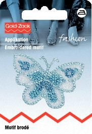 Ecusson Papillon Bleu 40 mm x 1.