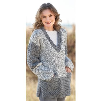 Pull long Big Merino Natur (39) Catalogue n° 79 Adulte (Katia)