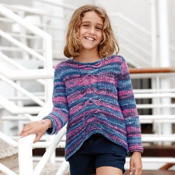 Pull Tropic (6) Catalogue Katia Enfant n° 73 Eté 2015