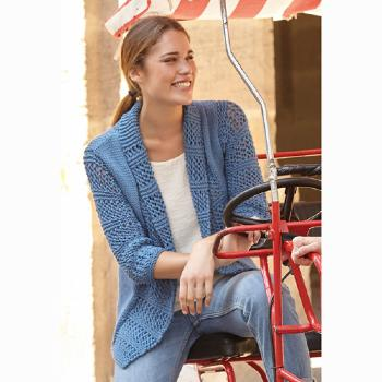 Veste Bulky Cotton (17) Catalogue Katia n°82 Eté 2015