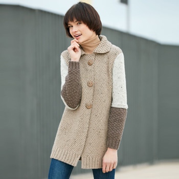 Veste longue Merino Tweed (24) Catalogue n°12 Essentials (Katia)