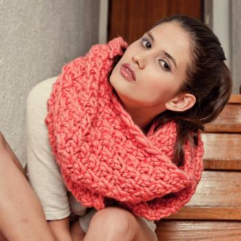 Kit High line Snood Corail - We are Knitters