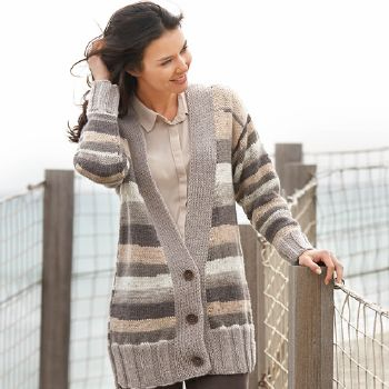 Gilet long Merino Aran Plus (33) Catalogue n° 79 Adulte (Katia)