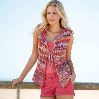 Gilet sans manches Tropic (30) Catalogue Katia n°77 Casual