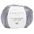 Laine All Seasons Cotton Gris (4) Katia - Pelote de 50 gr.
