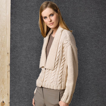 Veste grand col Cotton Merino (37) Catalogue n°1 Concept Katia