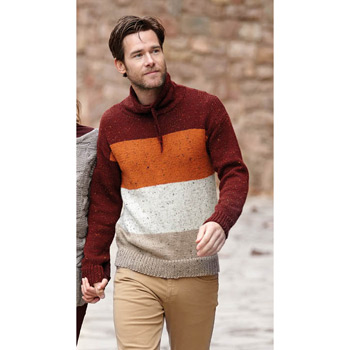 Pull homme Merino Tweed (16) Catalogue Basique n°11 Katia