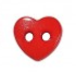 Bouton coeur rouge (Lot de 6) (50128) - Bergère de France