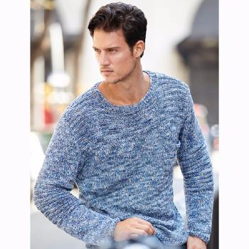 Pull homme Cotton Vintage (25) Catalogue Katia n°82 Eté 2015