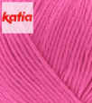 LAINE KATIA COTTON 100% COULEUR FUSHIA 24