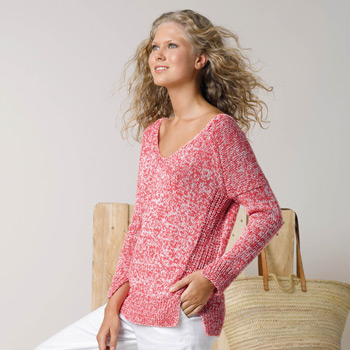Pull Duo Cotton (09) Catalogue Katia n°87 Sport