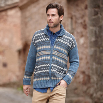 Gilet homme Merino Tweed (09) Catalogue Basique n°11 Katia