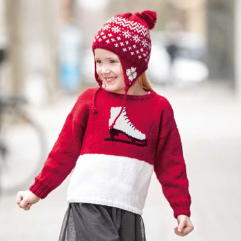 Pull patin Merino Fine (15) Catalogue n°83 Enfant (Katia)