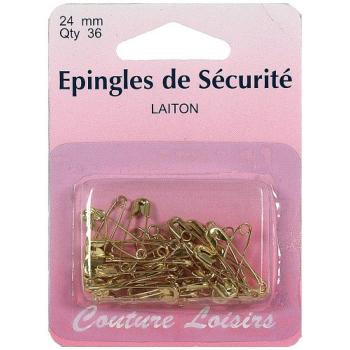Epingle de sécurité laiton 24mm * Lot de 36