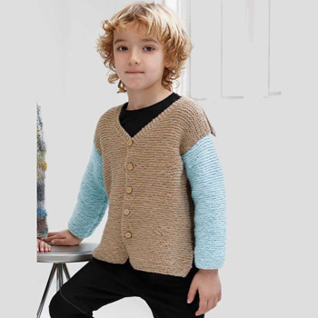 Gilet Catena Merino Fine (12) Catalogue n°83 Enfant (Katia)