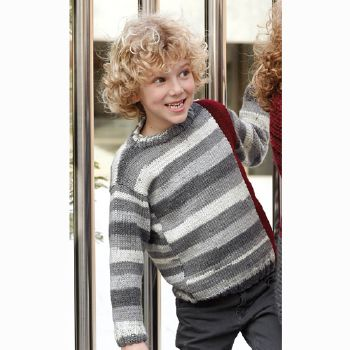 Pull Merino Aran plus (14) Catalogue n° 71 Enfant (Katia)
