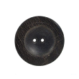 Bouton rond marron aspect bois (lot de 3) 27mm - Distri