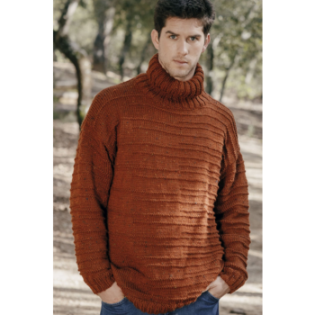 Pull col roulé homme Merino Tweed (09) Catalogue Easy n°9 Katia