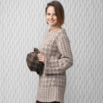 Pull long Air Alpaca (27) Catalogue Katia n°80 City
