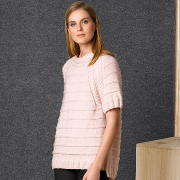 Pull manches courtes Cotton Merino (39) Catalogue n°1 Concept Katia