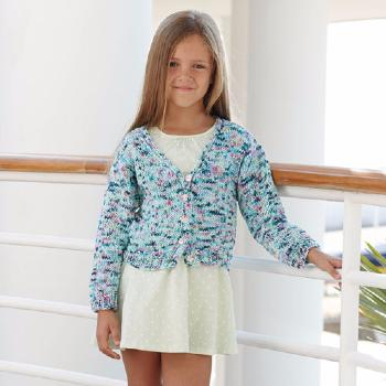 Gilet Tahiti Spray (1) Catalogue Katia Enfant n° 73 Eté 2015