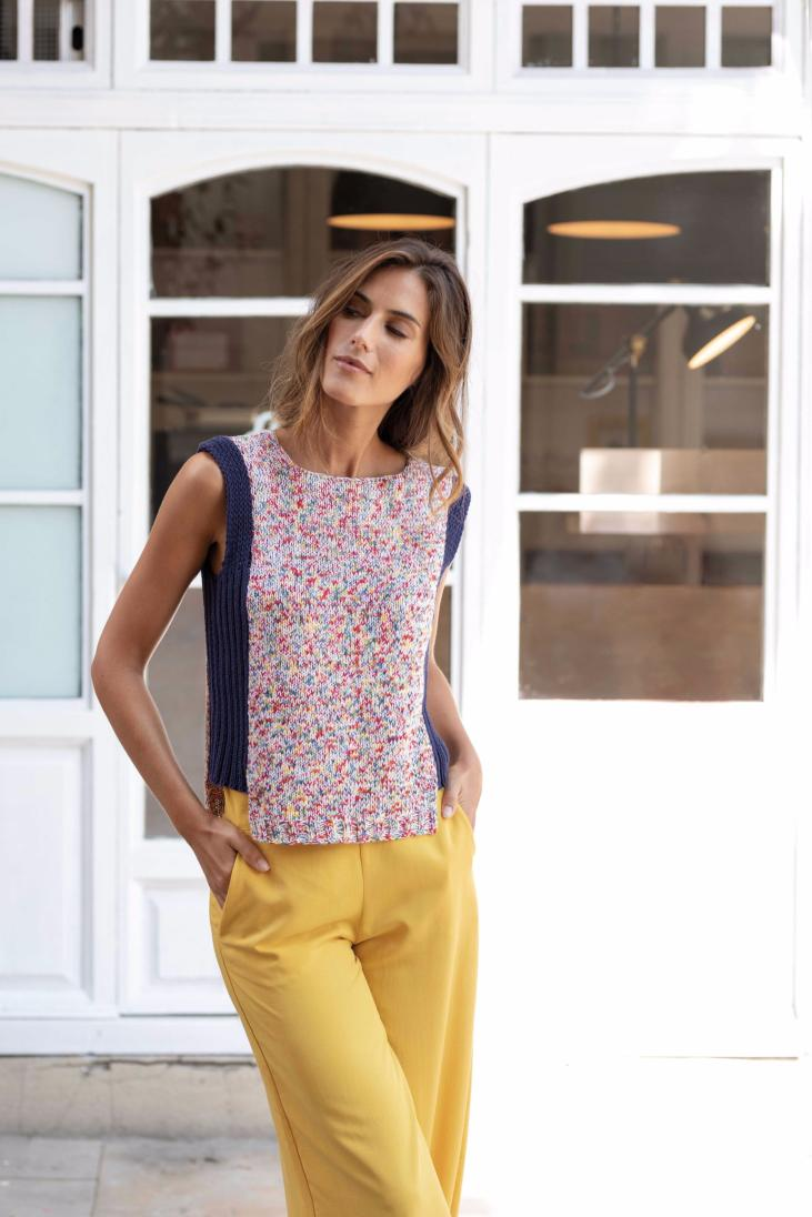 haut sans manche Butterfly et Cotton 100% (21) Catalogue Casual n°100 Katia