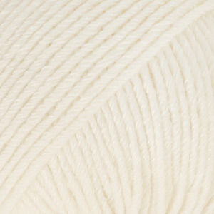 Laine Cotton Merino Naturel (01) Drops - pelote de 50 g