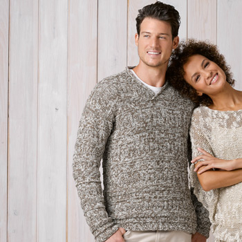 Pull homme Duo Cotton (19) Catalogue Katia n°89 Chic