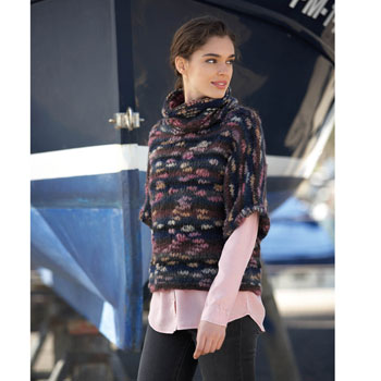 Pull manches 1-2 et col boule Kyoto (14) Catalogue Katia n°90 Sport