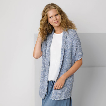 Veste longue Duo Cotton (14) Catalogue Katia n°88 Casual