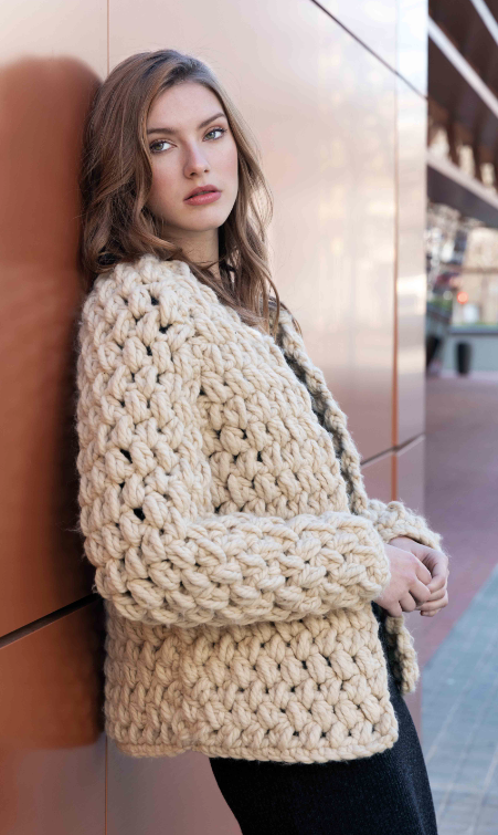 Gilet au crochet Tout de Suite  (01) Catalogue Urban n°102 Katia