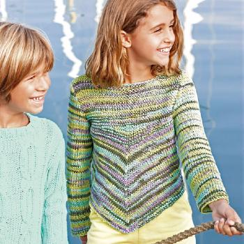 Pull Tahiti Beach (37) Catalogue Katia Enfant n° 73 Eté 2015