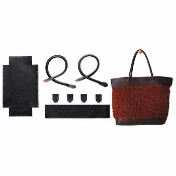 Knit bag cabas noir (54259) BDF