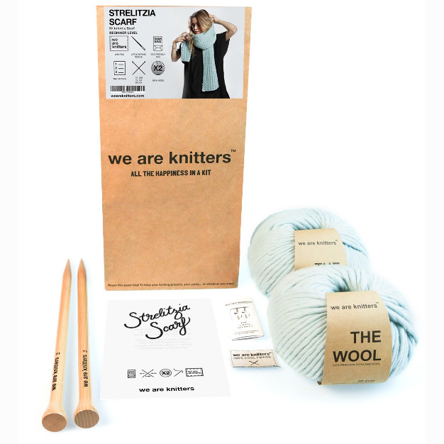 kit strelitzia scarf aquamarine we are knitters. Black Bedroom Furniture Sets. Home Design Ideas