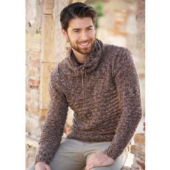 Pull homme Merino 100% Effect (45) Catalogue n° 79 Adulte (Katia)