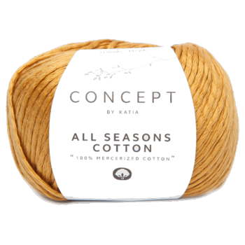 Laine All Seasons Cotton Ocre (15) Katia - Pelote de 50 gr.