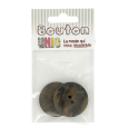 Boutons ronds corne pion - lot de 2 - 34 mm (BE.B13)