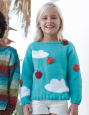 Pull Fille nuage Alabama (34) Catalogue n° 85 Enfant (Katia)