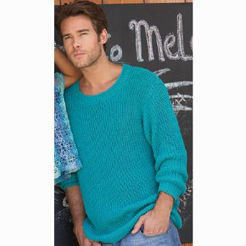 Pull homme Cotton Stretch (25) Catalogue Katia n°77 Casual