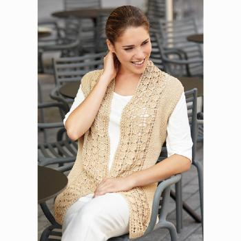 Gilet long Silk Cotton (31) Catalogue Katia n°82 Eté 2015