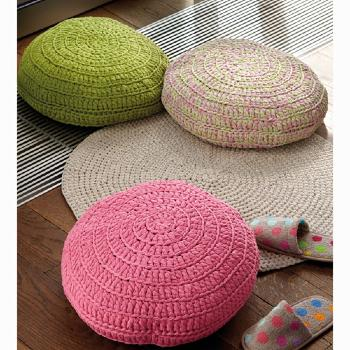 Coussin Big Ribbon (60) Catalogue Katia n°82 Eté 2015