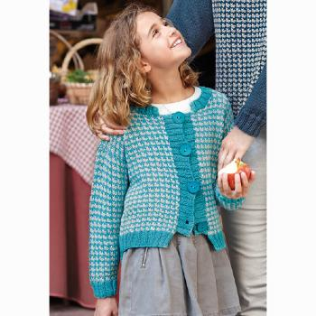 Gilet fille (06) Catalogue n°86 Basic Merino