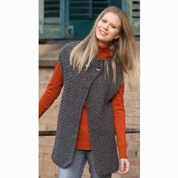 Gilet Big Merino Natur (22) Catalogue Katia Basique n°9