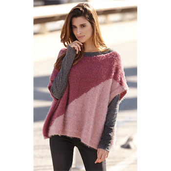 Poncho Harmony (01) Catalogue n° 84 Urban Katia