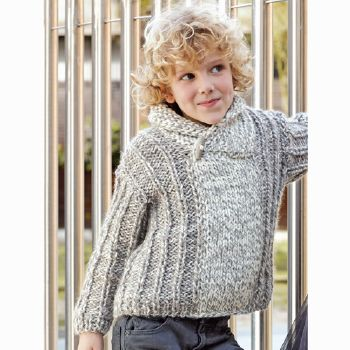 Pull Big Merino Natur (18) Catalogue n° 71 Enfant (Katia)
