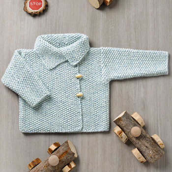 Veste Baby Tweed (09) Catalogue n°82 Bébé (Katia)