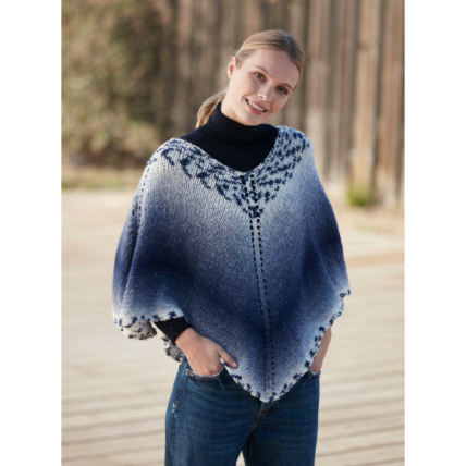 Poncho court mélody Jacquard (57) Catalogue Sport n° 98 Katia