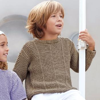 Pull Big Alabama (18) Catalogue Katia Enfant n° 73 Eté 2015