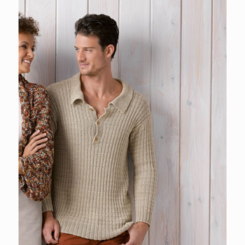 Pull homme Cotton Cashmere (35) Catalogue Katia n°89 Chic