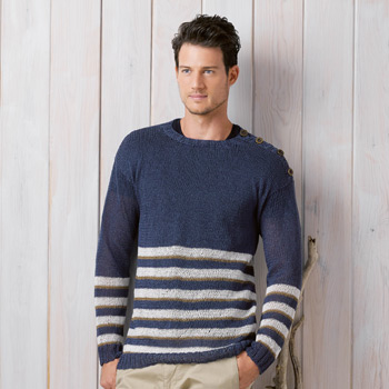 Pull homme Lino (23) Catalogue Katia n°89 Chic